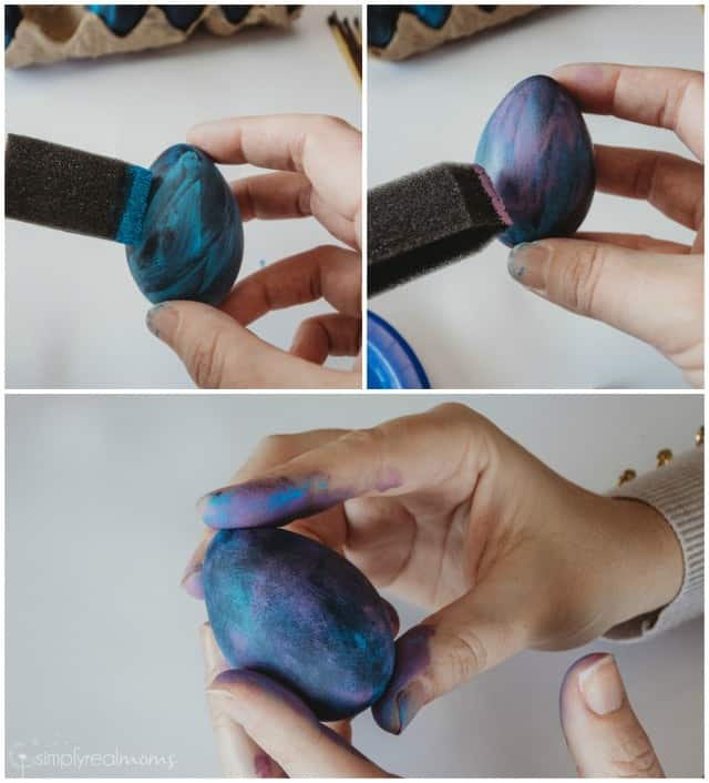 Paint Layers on Galaxy Easter Eggs