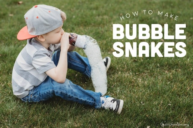 How to make DIY Bubble Snakes
