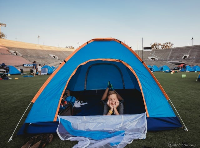 Campout at the Rose Bowl