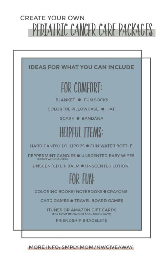 Ideas for Pediatric Cancer Chemo Care Packages