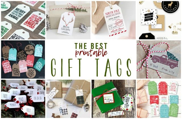 The Best Printable Christmas Gift Tags