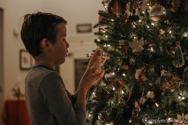 Christmas ornaments on the tree